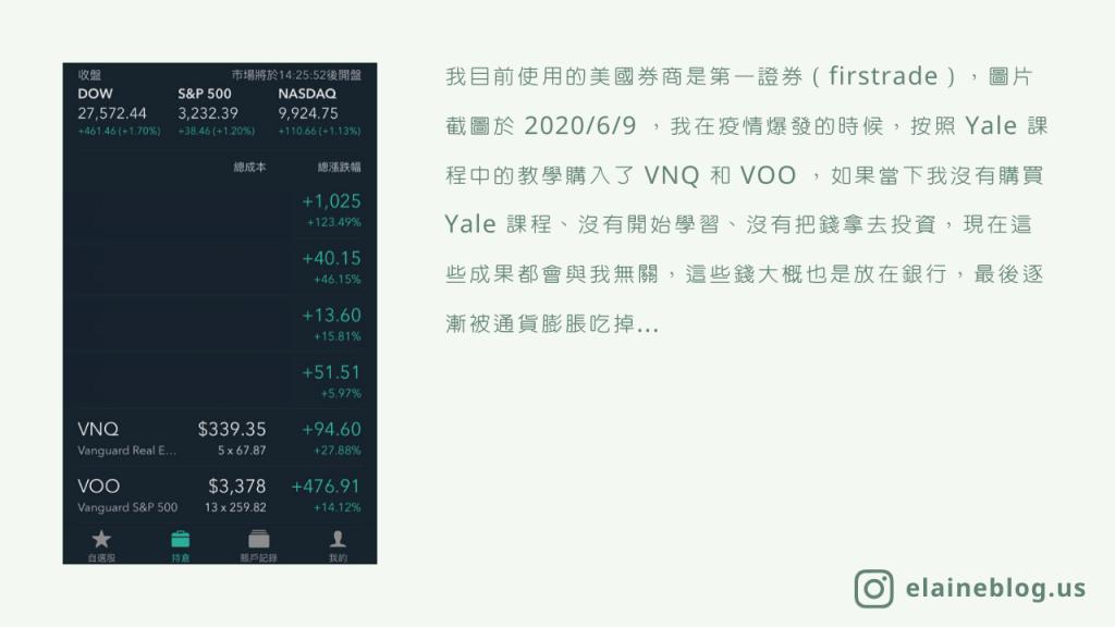 美股 ETF 投資成果