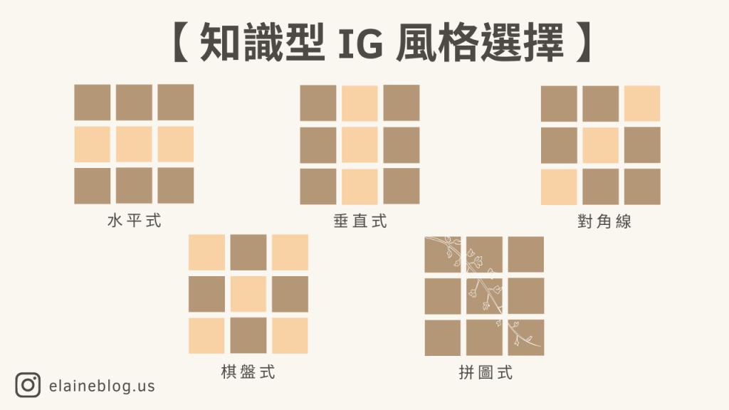 知識型 IG 風格選擇